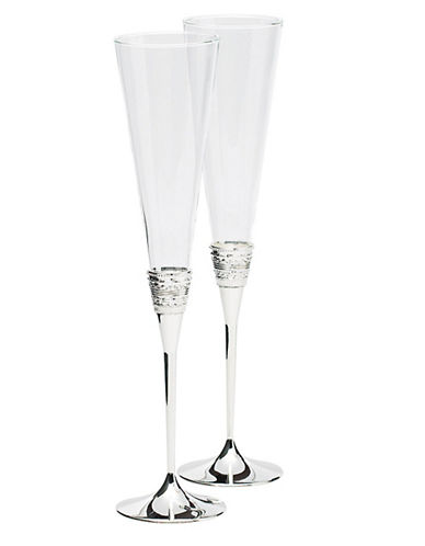 Vera Wang With Love Toasting Flutes Pair-CRYSTAL-One Size