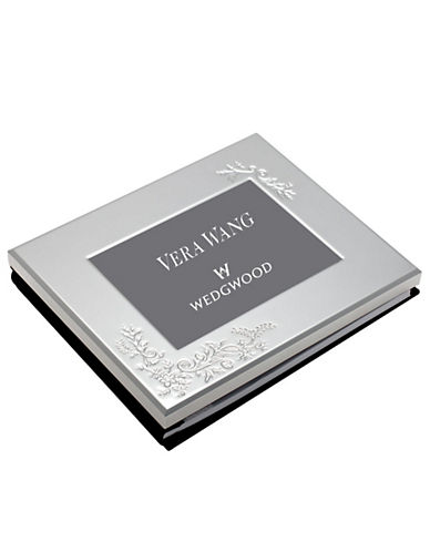 Vera Wang Wedgwood Vera Lace Bouquet Photo Guest Book 5 X 7In-SILVER-One Size