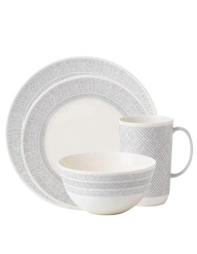 Vera Wang Vera Wang Wedgwood Simplicity Cream 4 Piece Place Setting-WHITE-One Size