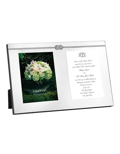 Vera Wang Infinity Frame Double Invitation-SILVER-One Size