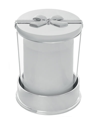Vera Wang Infinity Covered Candle on Base-SILVER-Small