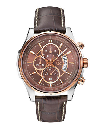 Gc Mens GC Techno Class Watch-BROWN-One Size
