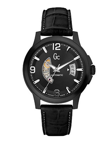 Gc Mens GC Classica Automatic Watch-BLACK-One Size