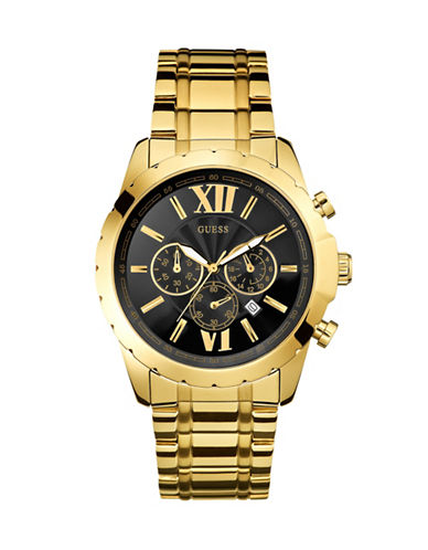 Guess Optic Stainless Steel Multifunction Watch-GOLD-One Size