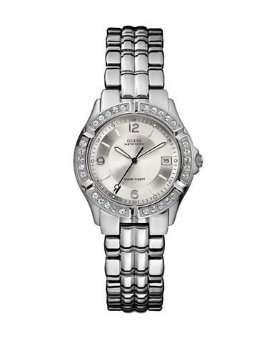 Guess Guess Polished Silver Watch-SILVER-One Size