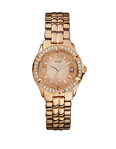 Guess Rose Gold Ladies Sports Watch W0148L3-ROSE GOLD-One Size