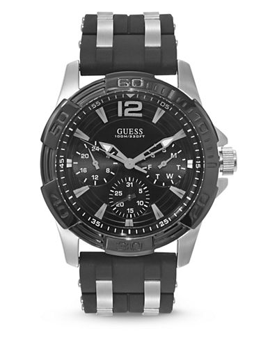 Guess Oasis Stainless Steel Watch-BLACK-One Size