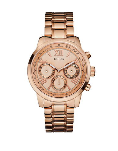 Guess Ladies Rose Gold Sport Watch W0330L2-ROSE GOLD-One Size