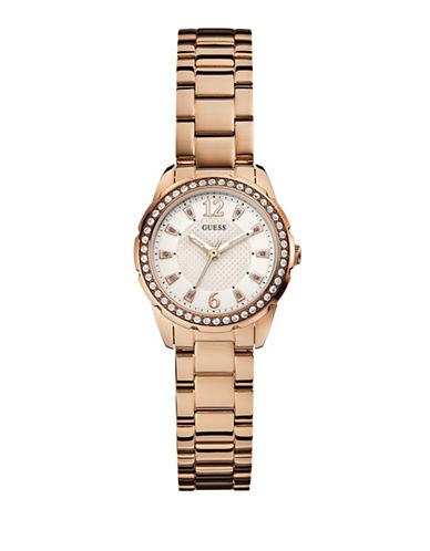 Guess Womens Analog Dress Watch-ROSE GOLD-One Size