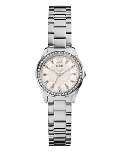Guess Ladies Silver Tone Watch 28mm W0445L1-SILVER-One Size