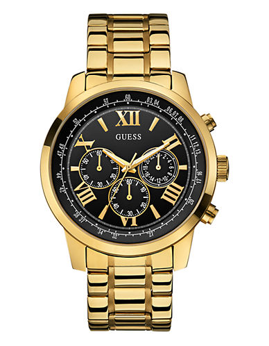 Guess Mens Chronograph Stainless Steel Gold tone Watch 45mm W0379G4-GOLD-One Size