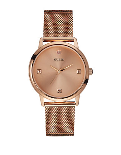 Guess Rose Goldtone Mesh Watch-ROSE GOLD-One Size