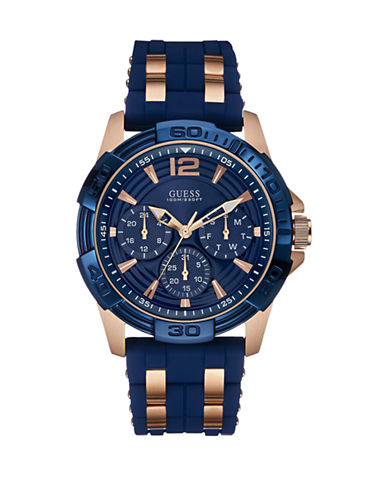 Guess Mens Multifunction Silicone Watch W0266G4-BLUE-One Size