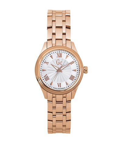Gc Classic Collection Smartclass Lady Rose-Goldtone Stainless Steel Bracelet Watch-ROSE GOLD-One Size