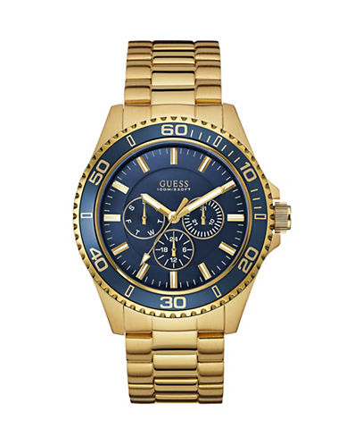 Guess Chaser Stainless Steel Multifunction Watch-GOLD-One Size