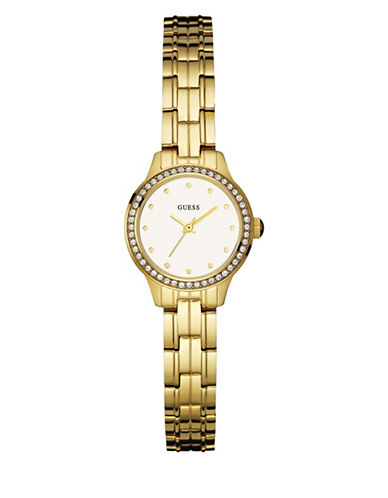 Guess Goldtone Stainless Steel Bracelet Watch-GOLD-One Size