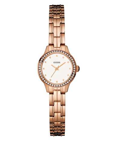 Guess Rose Goldtone Stainless Steel Bracelet Watch-PINK-One Size