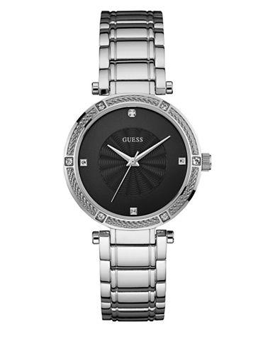 Guess Park Avenue Silvertone Bracelet Watch-SILVER-One Size