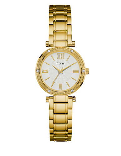 Guess Stainless Steel Goldtone Watch W0767L2-GOLD-One Size