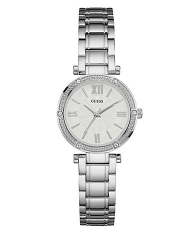 Guess Stainless Steel Silvertone Watch W0767L1-SILVER-One Size
