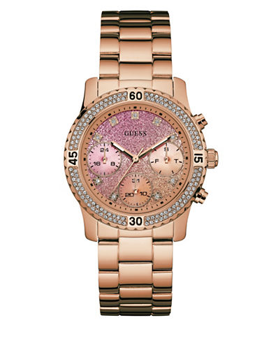 Guess Confetti Rose-Goldtone Stainless Steel Watch-ROSE GOLD-One Size