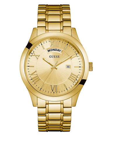 Guess W0791G2 Goldtone Bracelet Watch-GOLD-One Size