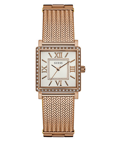 Guess Dress Analog W0826L3 Rose Goldtone Bracelet Watch-PINK-One Size