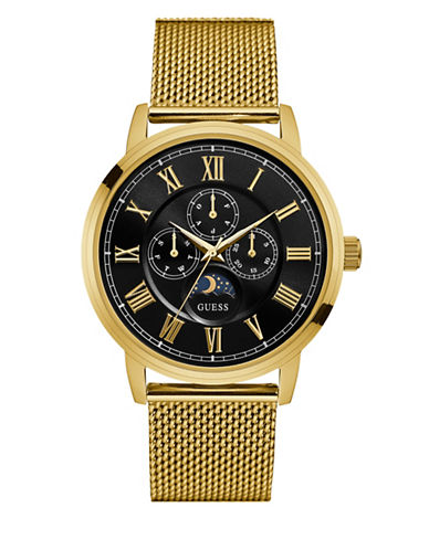 Guess W0871G2 Goldtone Stainless Steel Mesh Watch-GOLD-One Size