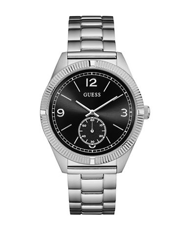 Guess W0872G1 Silvertone Stainless Steel Bracelet Watch-SILVER-One Size
