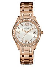 Rose Goldtone Mesh Square Bracelet Watch - Women