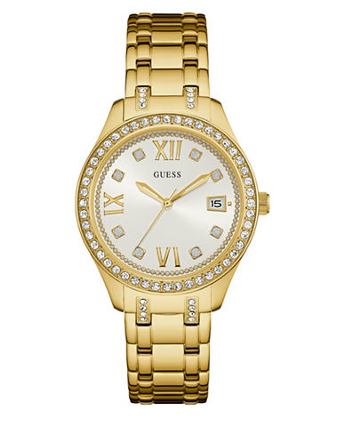Guess W0848L2 Goldtone Stainless Steel Bracelet Watch-GOLD-One Size