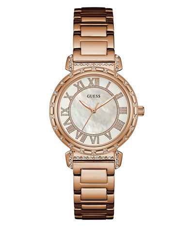 Guess W0831L2 Rose Goldtone Stainless Steel Bracelet Watch-PINK-One Size