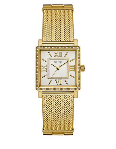 Guess Dress Analog W0826L2 Goldtone Bracelet Watch-GOLD-One Size