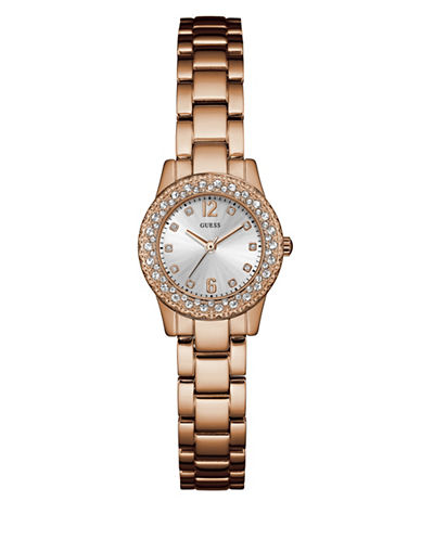 Guess W0889L3 Rose Goldtone Stainless Steel Bracelet Watch-PINK-One Size