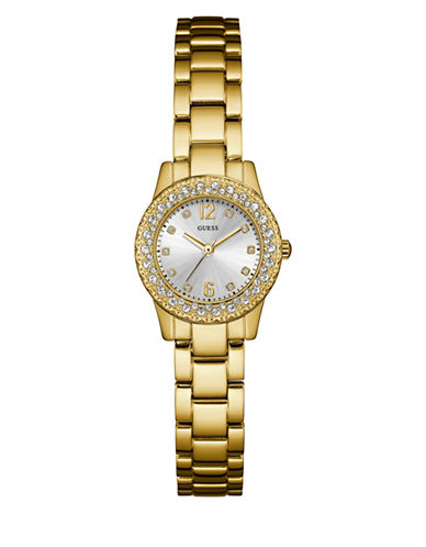 Guess Dixie Analog Silvertone Watch-GOLD-One Size