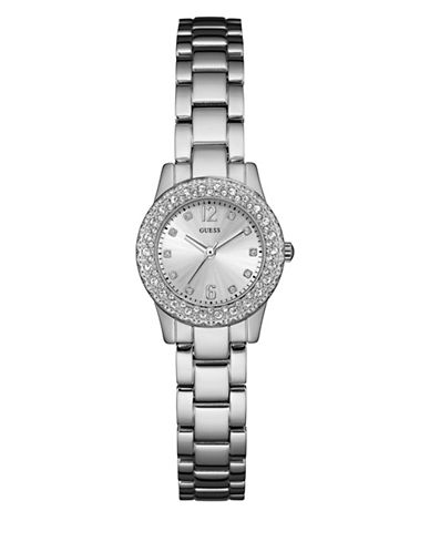Guess W0889L1 Silvertone Stainless Steel Bracelet Watch-SILVER-One Size