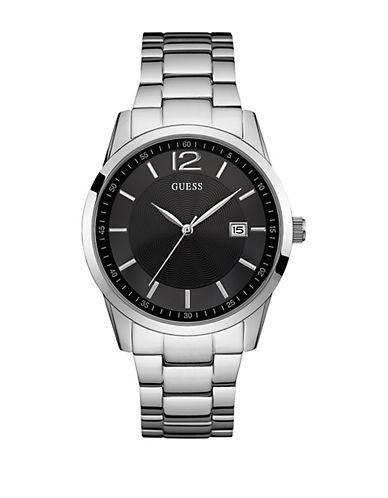 Guess W0901G1 Analog Stainless Steel Bracelet Watch-SILVER-One Size