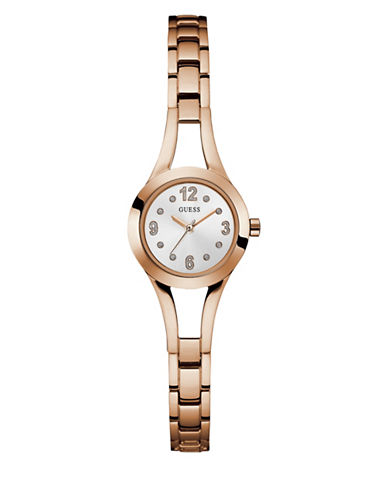Guess Analog Rose Goldtone Bracelet Watch 25mm W0912l3-ROSE GOLD-One Size