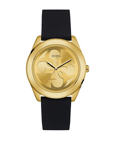 Guess Goldtone Silicone Strap Watch W0933L2-GOLD-One Size