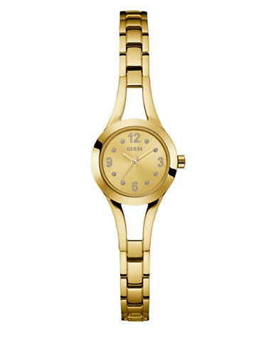 Guess Analog Goldtone Bracelet Watch 25mm W0912l2-GOLD-One Size