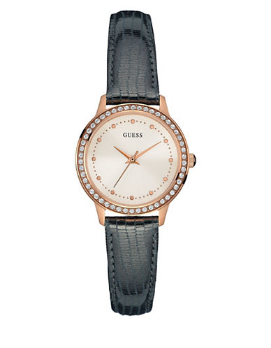 Guess Chelsea Rose Goldtone Leather Strap Watch-ROSE GOLD-One Size
