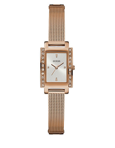 Guess Rose Goldtone Bracelet Watch W0953l3-ROSE GOLD-One Size