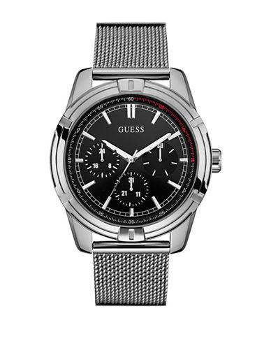 Guess W0965G1 Chronograph Silvertone Mesh Bracelet Watch-SILVER-One Size