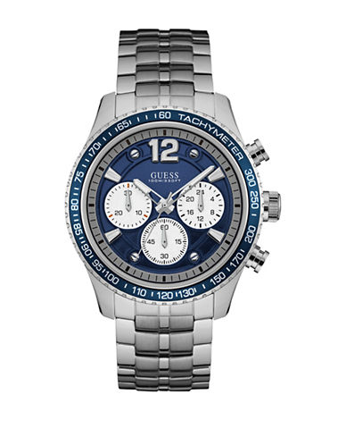 Guess W0969G1 Chronograph Silvertone Bracelet Watch-SILVER-One Size