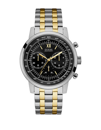 Guess Chronograph Protocol Two-Tone Bracelet Watch-TWO TONE-One Size