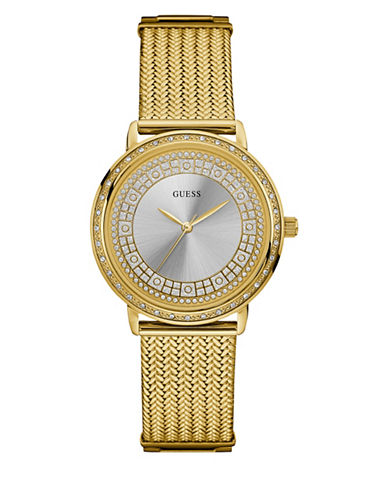 Guess Analog Goldtone Bracelet Watch 36mm W0836l3-GOLD-One Size