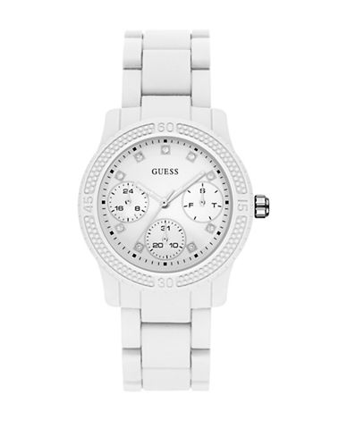 Guess Chronograph White Polycarbonate Strap Watch W0944L1-WHITE-One Size