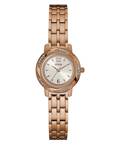 Guess Rose Goldtone Stainless Steel Bracelet Watch-ROSE GOLD-One Size