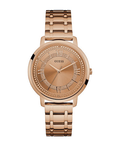 Guess Rose-Goldtone Bracelet Watch W0933L3-ROSE GOLD-One Size