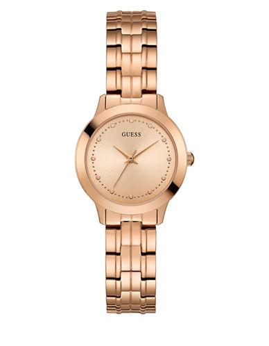 Guess Analog Rose Goldtone Bracelet Watch 30mm W0989l3-ROSE GOLD-One Size